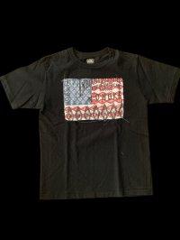 GUNZ ガンズ ネイティブ柄生地張りあてTEEシャツ ティーシャツ GUNZ  ブラック