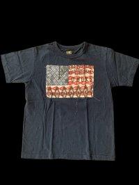 GUNZ ガンズ ネイティブ柄生地張りあてTEEシャツ ティーシャツ GUNZ  インディゴ