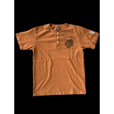 画像1: GUNZ ガンズ ネイティブTEEシャツ ヘンリーネックティーシャツ GUNZ  NUT BROWN