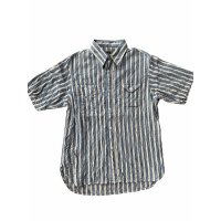 CUSHMAN クッシュマン STRIPE WORK SHIRTS ストライプワークシャツ BLUE