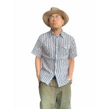他の写真1: CUSHMAN クッシュマン STRIPE WORK SHIRTS ストライプワークシャツ BLUE